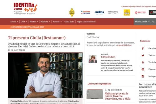 giulia restaurant identitagolose